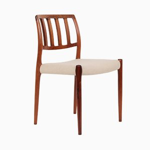 Model 83 Rosewood Dining Chairs by N.O. Møller for J.L. Møllers, 1970s, Set of 4