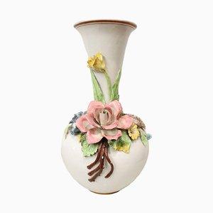 Vaso in ceramica con decorazioni floreali di Bassano, Italia, anni '20