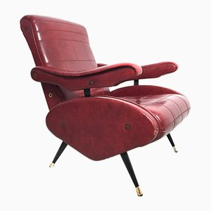 Vintage Reclining Lounge Chair, 1950s