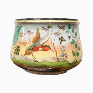 Vaso Art Nouveau dipinto a mano in ceramica, anni '20