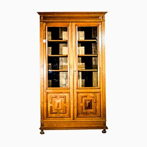 Oak Napoleon III Book Case, 1880s