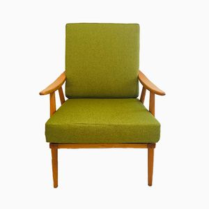 Grüner Boomerang Sessel von Thonet, 1960er