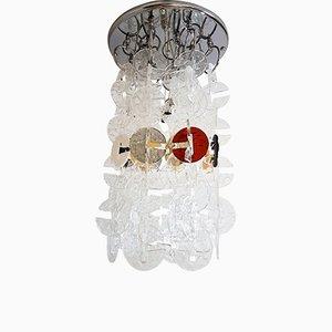 Große Hängelampe aus Muranoglas von Mazzega, 1980er