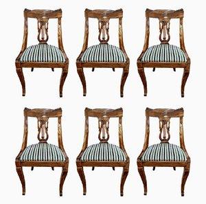 Antike französische Stühle, 1870er, 6er Set