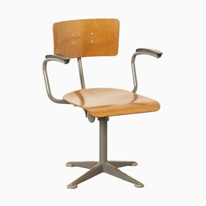Vintage Industrial Swivel Chair by Friso Kramer for Ahrend De Cirkel