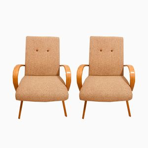 Czech Armchairs by Jaroslav Smidek for TON, 1950s, Set of 2
