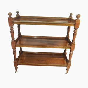 French Walnut Etagere, 1880s