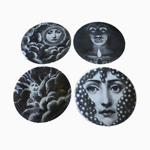 Vintage Plates by Atelier Fornasetti, Set of 4