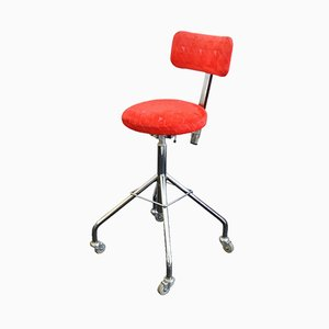 Vintage Swedish Adjustable Swivel Chair from Mercado