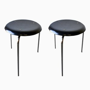3170 Stools from Fritz Hansen, 1950s, Set of 2
