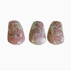 Cuencos daneses de cerámica de Bjørn Wiinblad para Nymølle, años 70, Juego de 3