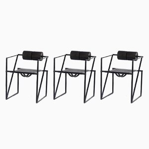 Seconda 602 Armchairs by Mario Botta for Alias, 1982, Set of 3