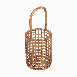 Curved Wicker Umbrella Stand by Franca Helg for Vittorio Bonacina, 1950s