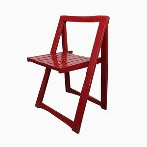 Sedia vintage pieghevole rossa di Aldo Jacober per Alberto Bazzani