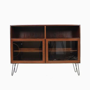 Rosewood & Glass Bookcase, 1960s
