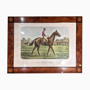 Horseman Engraving & Heather Root Frame, 1880s
