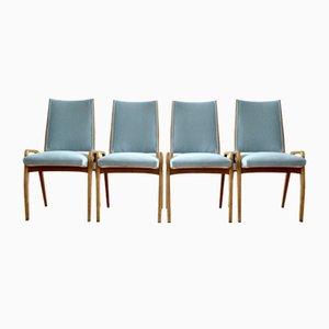 Deutsche Mid-Century Esszimmerstühle, 1950er, 4er Set