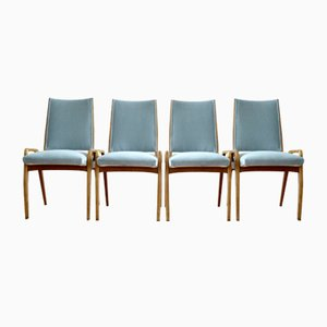 Mid-Century German Dining Chairs, 1950s, Set of 4