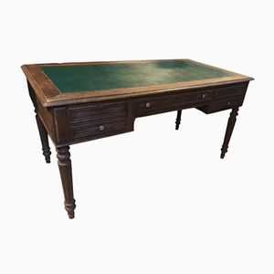 Vintage French Wood & Leather Desk