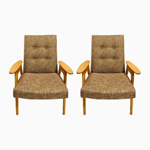 Czech Armchairs by Jaroslav Smidek for Jitona, 1960s, Set of 2