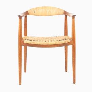 Sedia The Round Chair di Hans J. Wegner per Johannes Hansen, anni '50