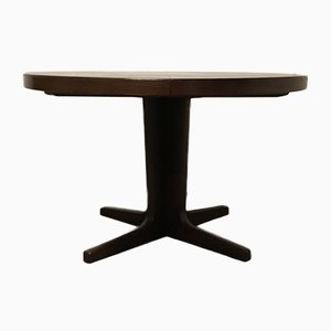 Danish Round Extendable Dining Table, 1960s