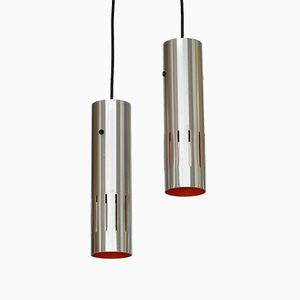 Trombone Pendant Lights by Jo Hammerborg for Fog & Mørup, 1960s, Set of 2