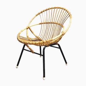 Filigraner Hoop Chair aus Bambus von Dirk Van Sliedregt für Rohe Noordwolde, 1960er