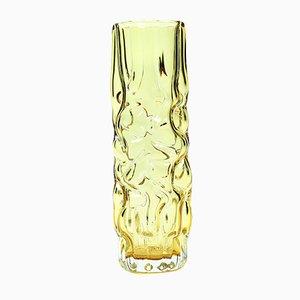 Vase Brain Jaune par Pavel Hlava pour en Cristalex, 1968