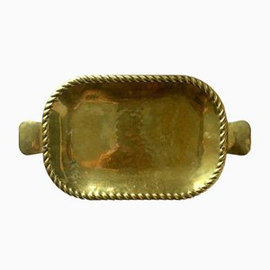 Vintage Swedish Brass Tray