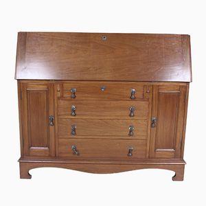 Großer antiker Continental Schreibtischschrank aus Mahagoni