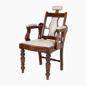 Antique Carved Mahogany Barber Chair