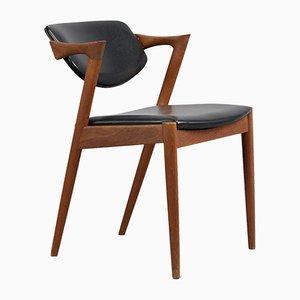 Sedia Z-Chair di Kai Kristiansen per Slagelse Møbelværk, anni '60