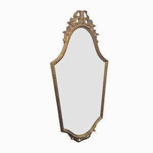 Spiegel mit goldenem Holzrahmen, 1940er