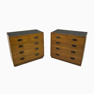 Mid Century Teak Chest of Drawers, Set of 2