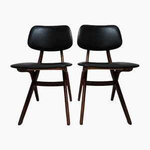 Vintage Stühle von Louis van Teeffelen für Webé, 1950er, 2er Set