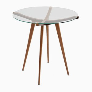 Table Basse Mid-Century en Noyer, Italie