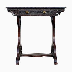 Tavolo in legno di padouk con cassetto, 1905