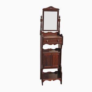 Rasiertisch aus Eiche mit Spiegel, 1920er