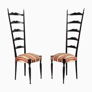 Mid-Century Italian Highback Side Chairs by Paulo Buffa, Set of 2