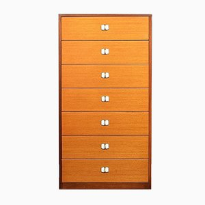 Mid-Century Zebrano Teak Chest of Drawers