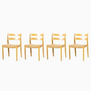 Chaises de Salon No. 84 par Niels Otto Møller pour J.L. Møllers, 1960s, Set de 4