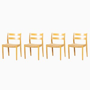 No. 84 Dining Chairs by Niels Otto Møller for J.L. Møllers, 1960s, Set of 4