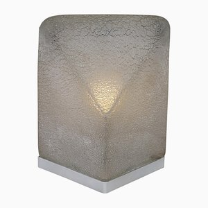 Lámpara de mesa de cristal de Murano de Alfredo Barbini, años 70