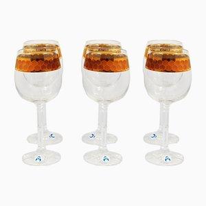 Bicchieri Isabelle in cristallo di Bohemia Crystal, anni '80, set di 6