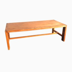 Mid-Century Elm Rectangular Coffee Table by Pierre Chapo, 1960s