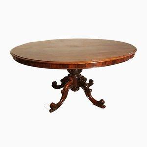 Tavolo da pranzo antico allungabile, metà XIX secolo