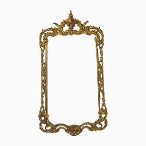 Antique Rococo Bronze Frame, 1890s