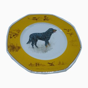 Gordon Setter Porcelain Plate from Hermès, 1980s