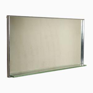 Espejo de cuarto de baño vintage de metal cromado